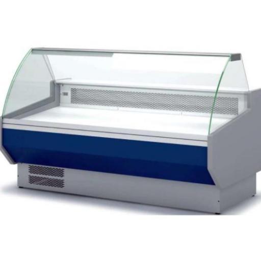Vitrina refrigerada cristal curvo fondo 1100 modelo CH VED-10-20-C-FT