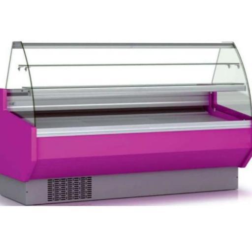 Vitrina refrigerada pastelería cristal curvo fondo 940 modelo CH VEPD-9-10-C