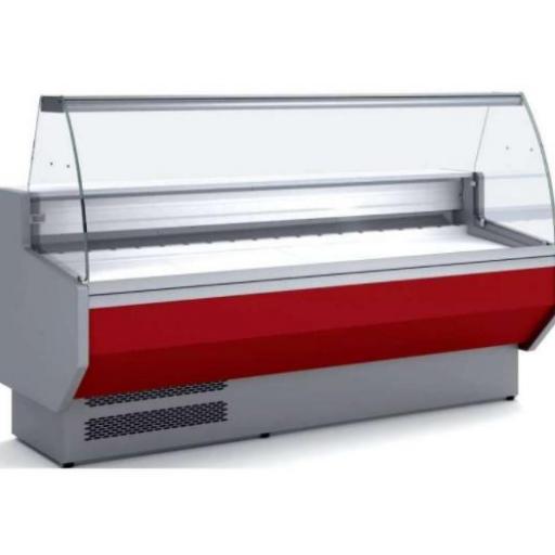 Vitrina refrigerada cristal curvo fondo 940 modelo CH VED-9-10-C