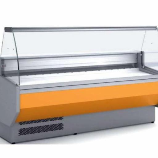 Vitrina refrigerada cristal curvo fondo 800 modelo CH VED-8-15-C