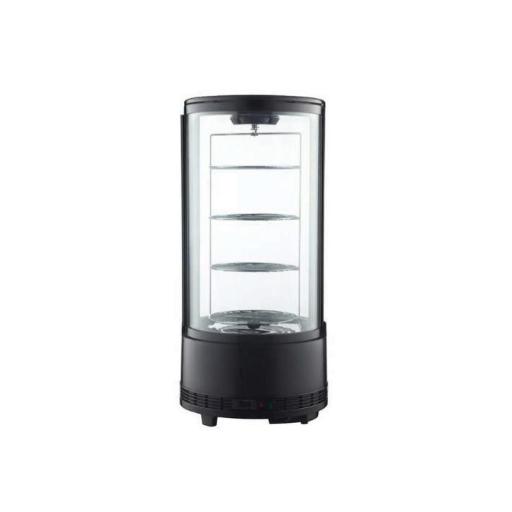 Vitrina refrigerada de sobremostrador giratoria