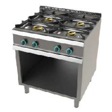 Cocina con mueble de 4 fuegos fondo 700 Mod. CHFO7N400