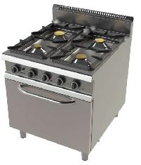 Cocina de 4 fuego con horno  Fondo 900 Mod. CHFO9C401