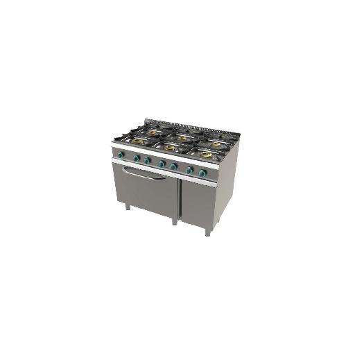 Cocina de 6 fuegos con horno fondo 700 Mod. CHFO7N6O1