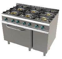 Cocina de 6 fuegos con horno fondo 700 Mod. CHFON601VT