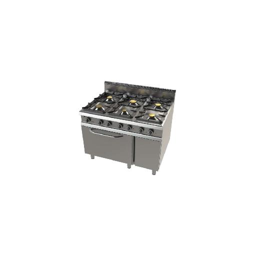 Cocina de 6 fuegos con horno 900 Mod. CHFO9C6O1