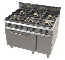 cocina de 6 fuegos con horno fondo 900 Mod. CHFO9C6O1VT