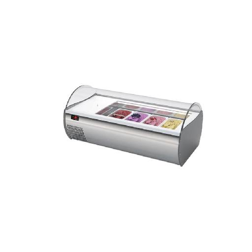Expositor horizontal para helados Mod. MQ microgel 2