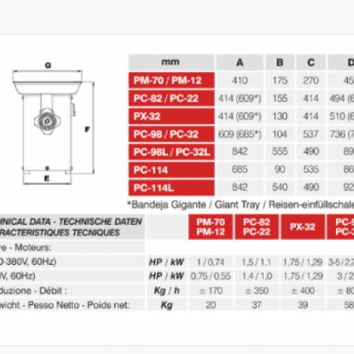 PICADORA MAINCA modelo PC-82/22 [1]