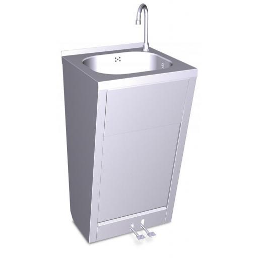 Lavamanos con pedestal y pedal o doble pedal agua fría y caliente [1]