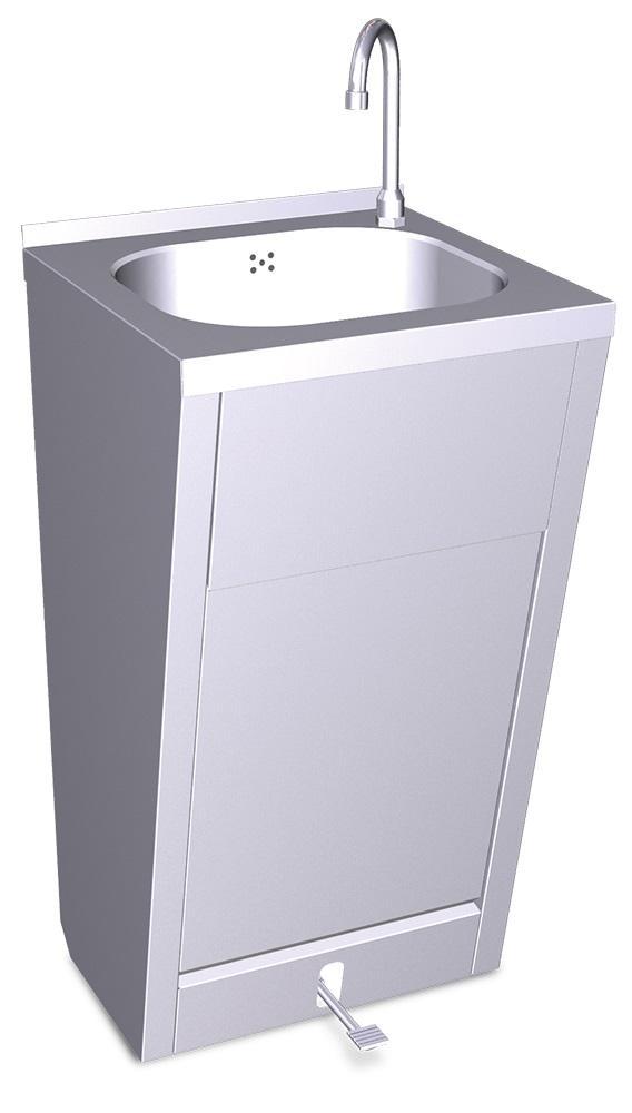 Lavamanos con pedestal y pedal o doble pedal agua fría y caliente