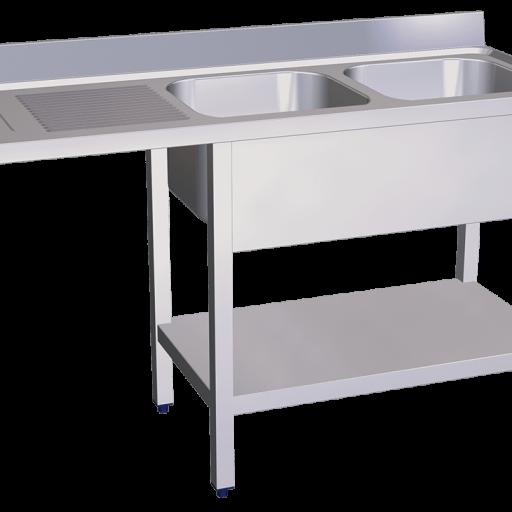 fregadero doble lavavaso lavaplatos escurridor [2]