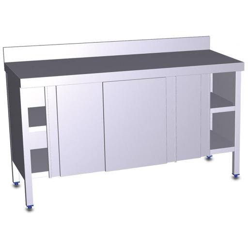 Mesa con puertas correderas o abatibles