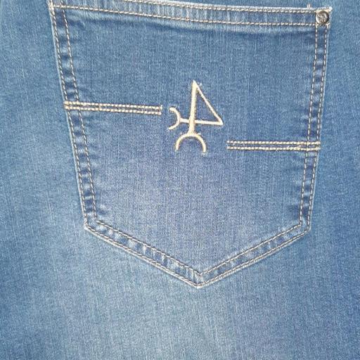Pantalón H Denim Azul Jeans Medio [1]