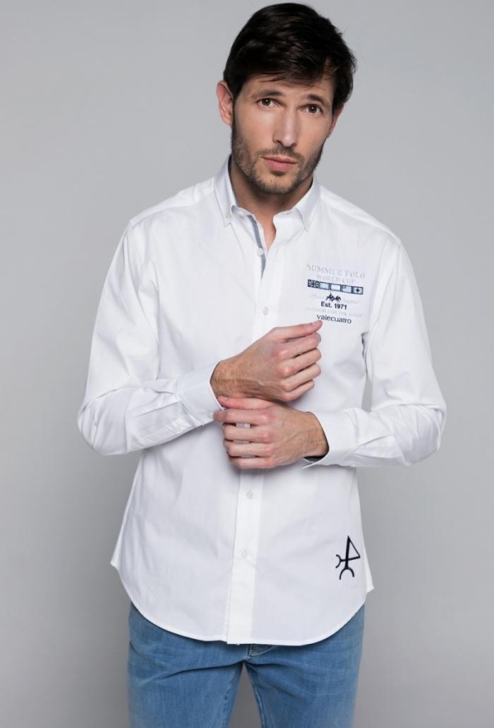 Camisa H Summer Polo Blanco