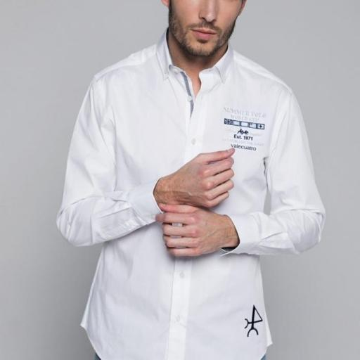 Camisa H Summer Polo Blanco