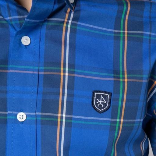 Camisa H Tartan Tartán Azul