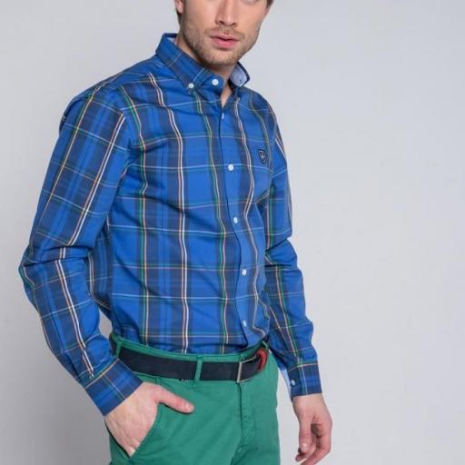 Camisa H Tartan Tartán Azul [1]