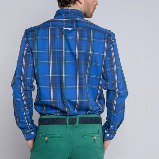 Camisa H Tartan Tartán Azul [2]