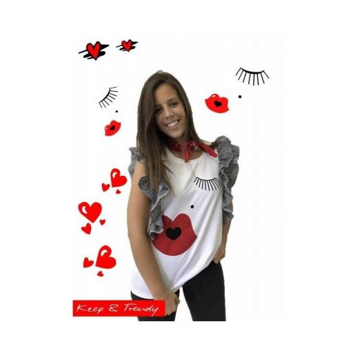 CAMISETA VICHY KEEP&TRENDY
