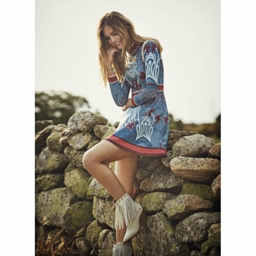 VESTIDO PRINT AZUL HIGHLY PREPPY
