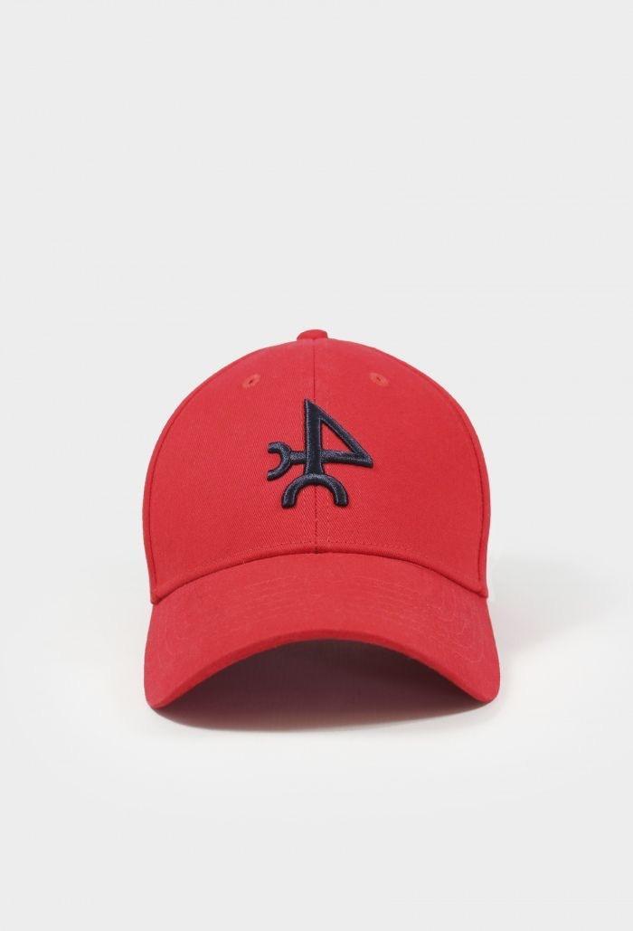 Gorra valecuatro roja y azul marino