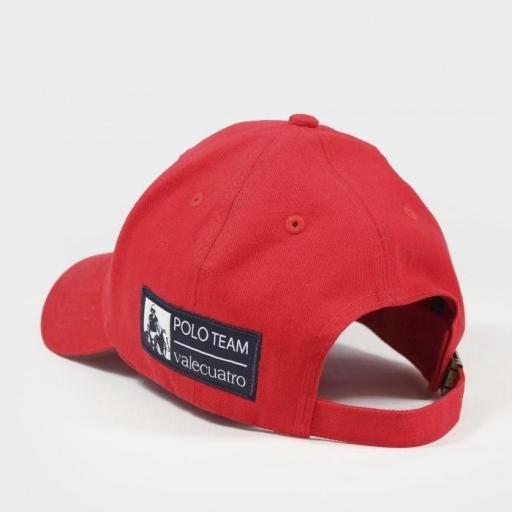 Gorra valecuatro roja y azul marino [2]