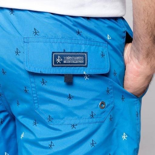 Bañador valecuatro azul con logos