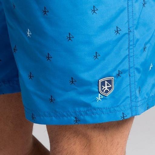 Bañador valecuatro azul con logos [1]