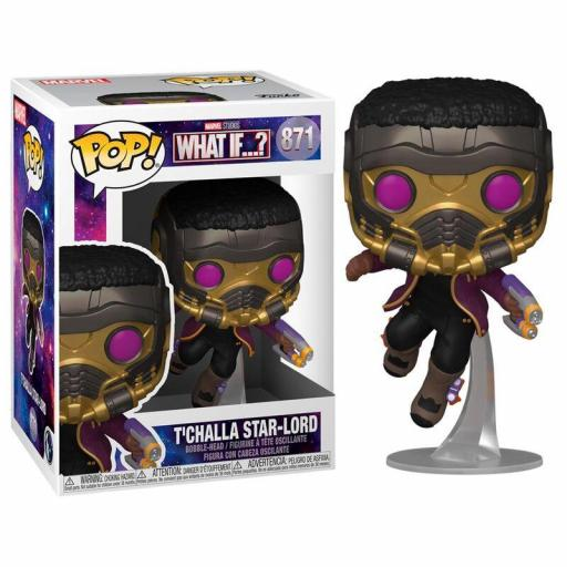 FUNKO  POP T´CHALLA STAR-LORD--MARVEL (WHAT IF.?)