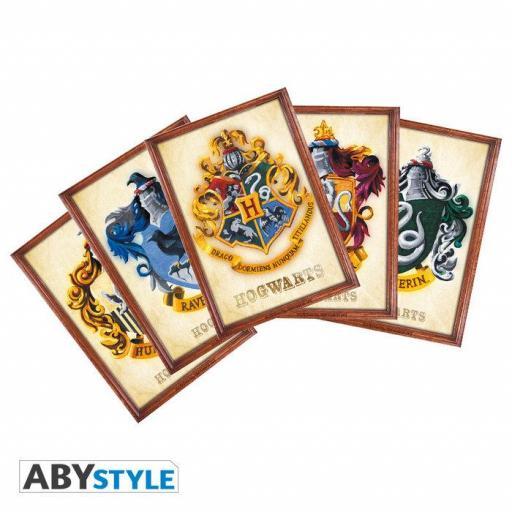 Pack de postales de las casas de Hogwarts