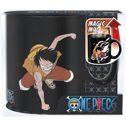 TAZA ONE PIECE LUFFY & ACE (CALOR)