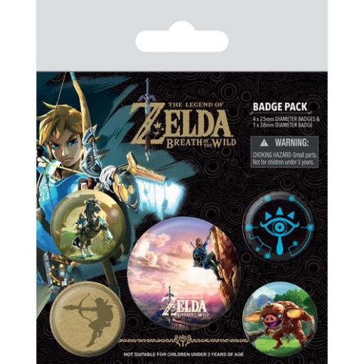 PACK CHAPAS THE LEGEND OF ZELDA BREATH OF THE WILD THE CLIMB [0]