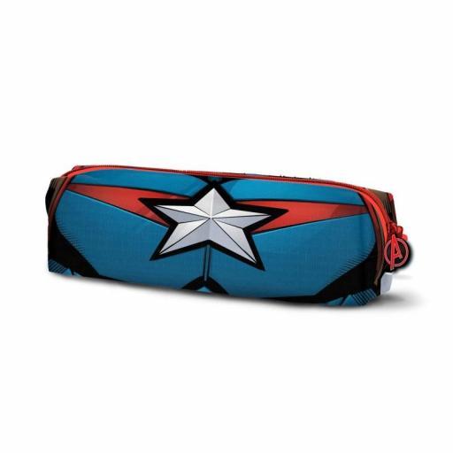 Estuche con el logo del Capitán América