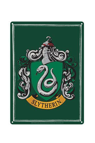 Placa de Chapa Slytherin 21 x 15 cm