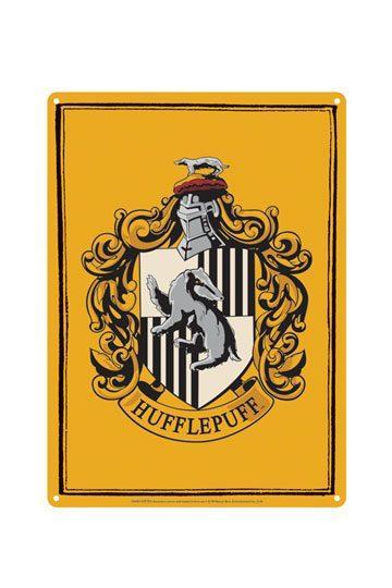 Harry Potter Placa de Chapa Hufflepuff 21 x 15 cm
