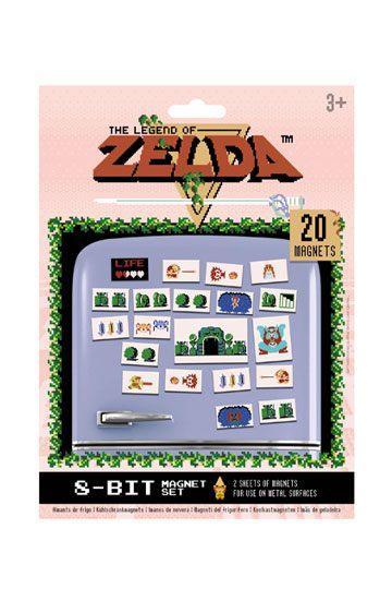 Set de Imanes Retro de The Legend of Zelda