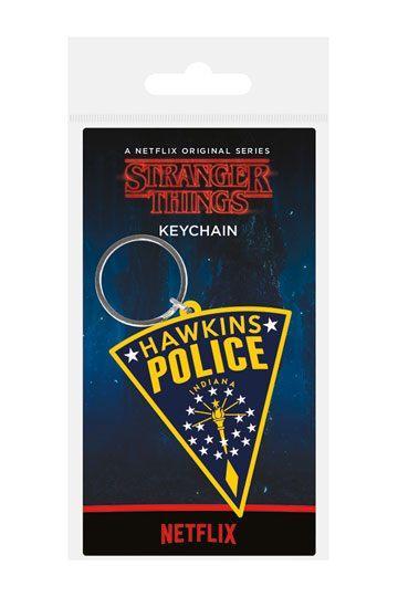 Stranger Things Llavero caucho Hawkins Police 6 cm
