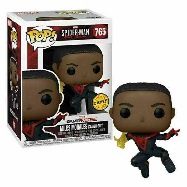 Funko pop 765 Spiderman Miles Morales Suit classic Chase