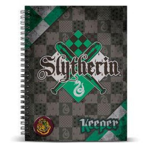 Cuaderno A5 Harry Potter Quidditch Slytherin
