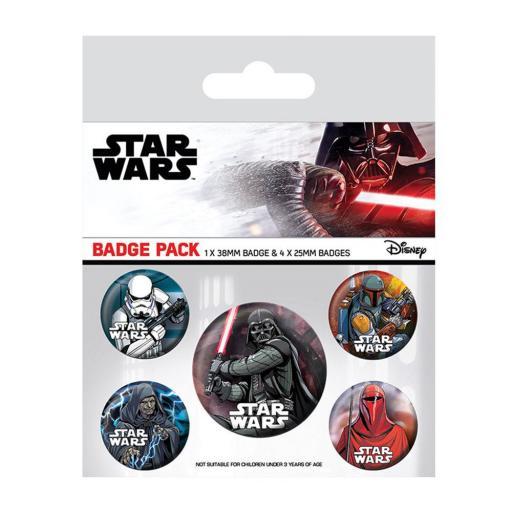 Set de chapas Star Wars Lado Oscuro