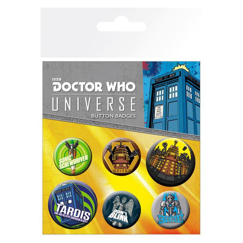 Lote de 6 chapas Alien Adventures Doctor Who