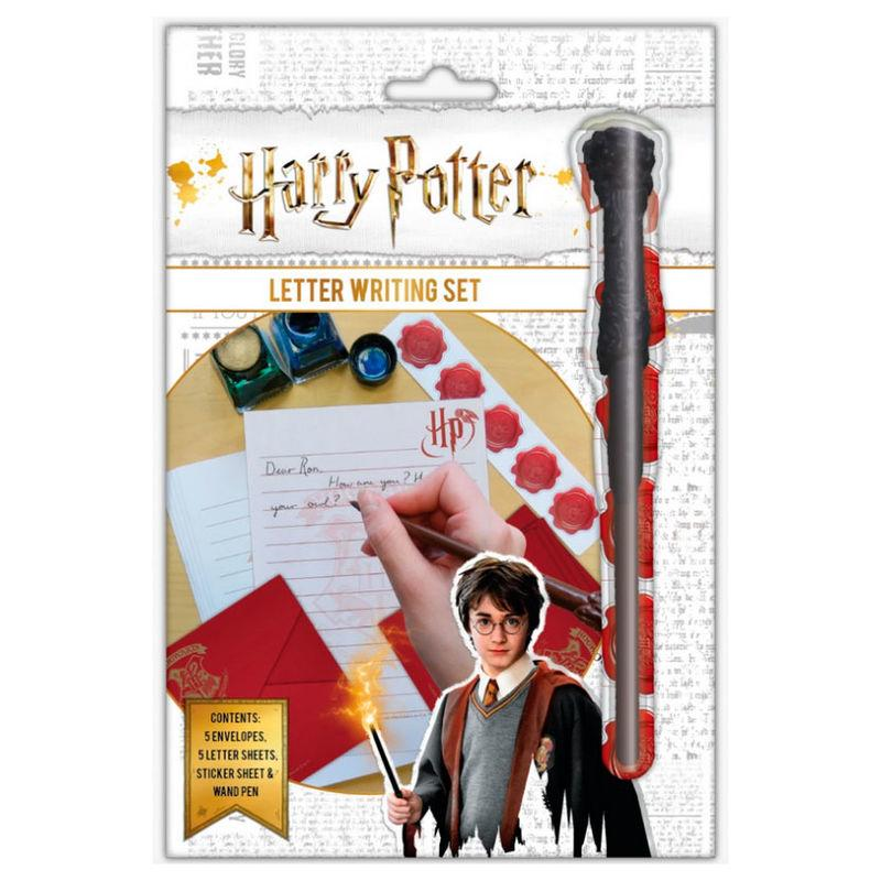 Set escritura cartas Harry Potter + varita