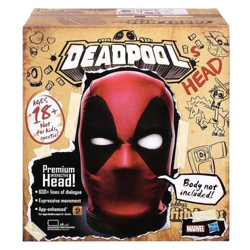 Cabeza Premium Interactiva Deadpool Marvel Legends Ingles