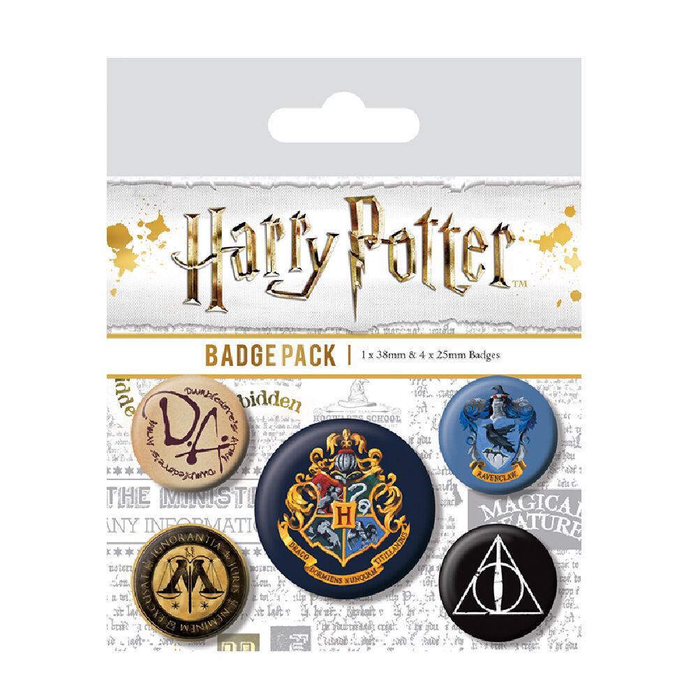 Lote con 5 chapas de Harry Potter