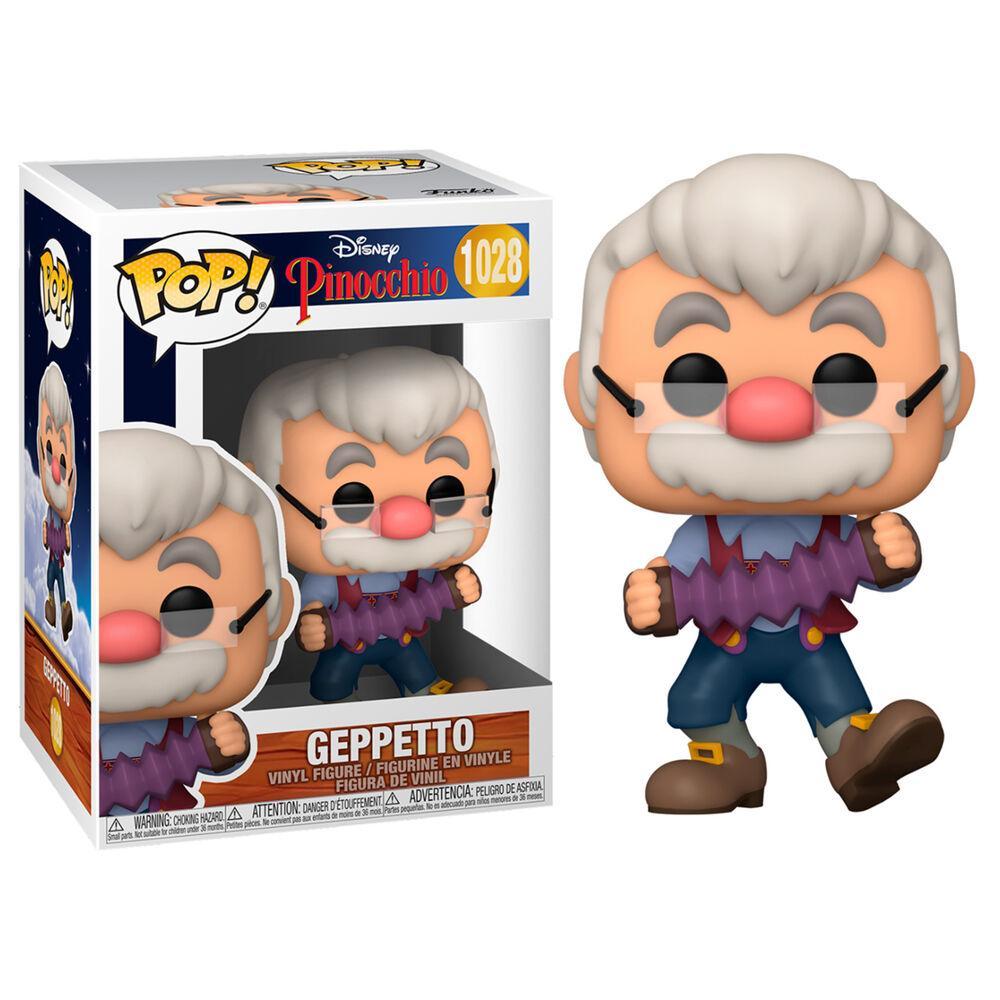 Funko pop 1028 Geppetto con el acordeón de la película Pinocho