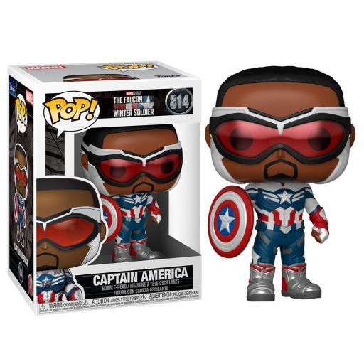 Funko pop 814 Captain America de la serie Falcon y el soldado de invierno