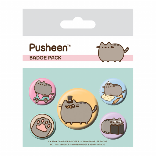 Set de Chapas Licencia Pusheen Pusheen Molón [0]