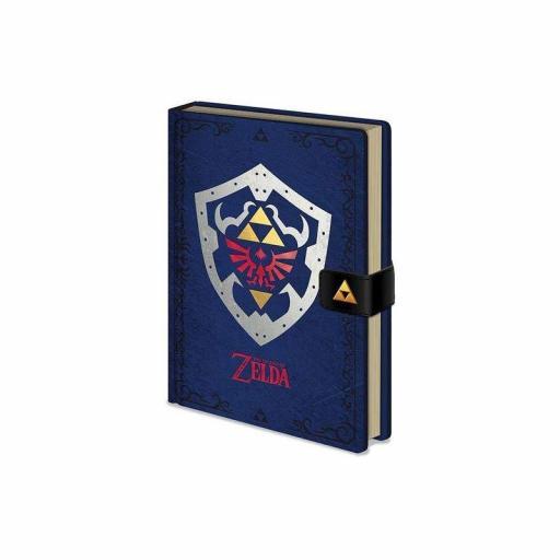 Cuaderno The Legend of Zelda Diseño Escudo Hyliano A5