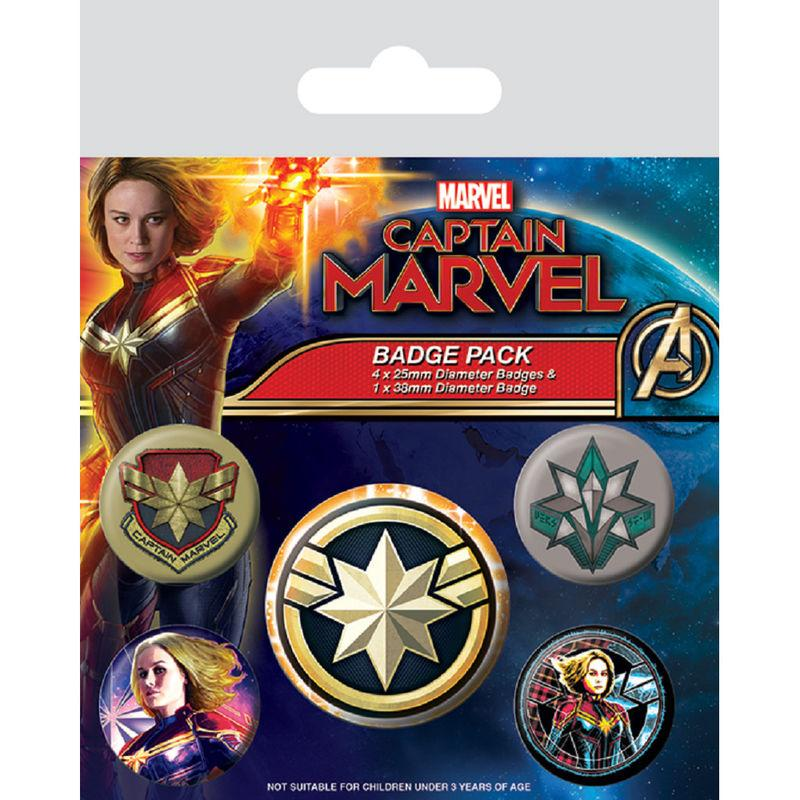 Set de chapas Capitana Marvel
